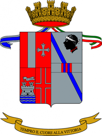 Coat of arms (crest) of the 35th Field Artillery Group Riolo, Italian Army