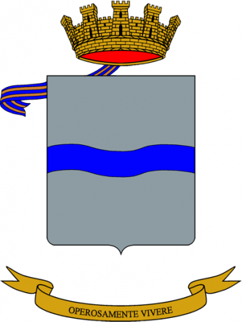 Coat of arms (crest) of the Mantova Logistics Battalion, Italian Army