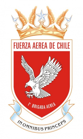 Coat of arms (crest) of the First Aerial Brigade of the Air Force of Chile