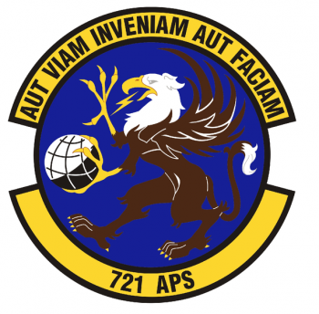 Coat of arms (crest) of the 721st Aerial Port Squadron, US Air Force