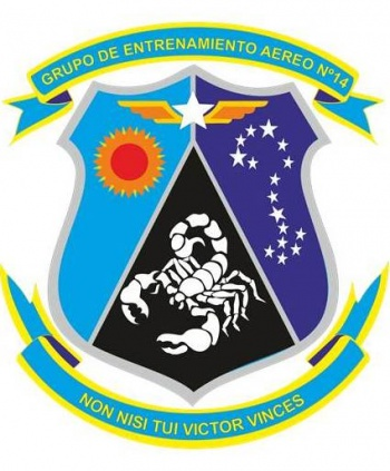 Coat of arms (crest) of the Air Training Group No 14, Air Force of Venezuela