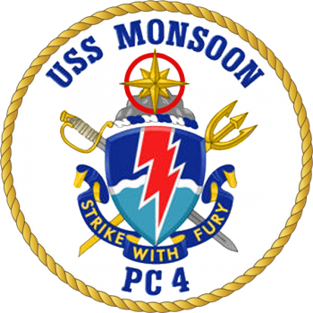 Coat of arms (crest) of the Coastal Patrol Ship USS Monsoon (PC-4)
