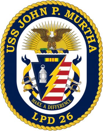 Coat of arms (crest) of the Ampibious Transport Dock USS John P. Murtha (LPD-26), US Navy