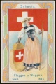 Arms, Flags and Folk Costume trade card Natrogat Schweiz