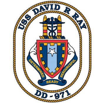 Coat of arms (crest) of the Destroyer USS David R. Ray (DD-971)