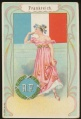 Arms, Flags and Folk Costume trade card Frankreich