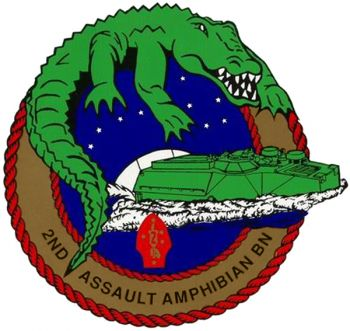 Coat of arms (crest) of the 2nd Assault Amphibian Battalion, USMC
