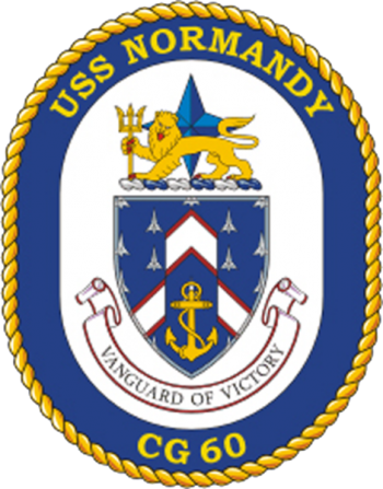 Coat of arms (crest) of the Cruiser USS Normandy