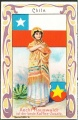 Arms, Flags and Folk Costume trade card Chile
