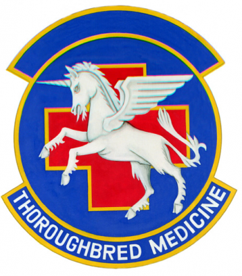 Coat of arms (crest) of the 123rd Tactical Hospital, US Air Force