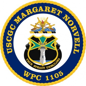 Coat of arms (crest) of the USCGC Margaret Norvell (WPC-1105)