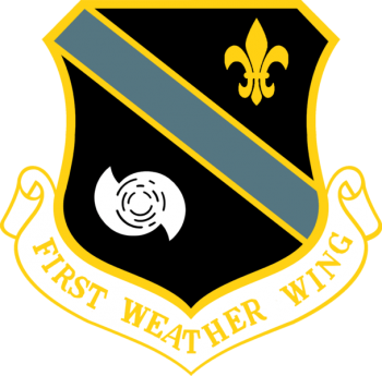Coat of arms (crest) of the 1st Weather Wing, US Air Force