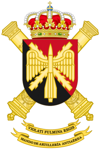 Coat of arms (crest) of the Air Defence Artillery Command, Spanish Army
