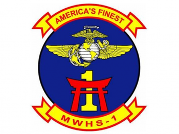 Coat of arms (crest) of the Marine Wing Headquarters Squadron (MWHS) 1 America's Finest, USMC