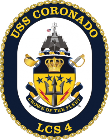 Coat of arms (crest) of the Littoral Combat Ship USS Coronado (LCS-4)
