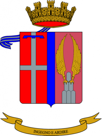 Coat of arms (crest) of the 1st Engineer Regiment, Italian Army