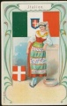 Arms, Flags and Folk Costume trade card Italien