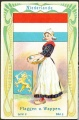 Arms, Flags and Folk Costume trade card Natrogat Niederlände