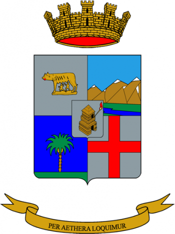 Coat of arms (crest) of the 1st Signal Regiment, Italian Army