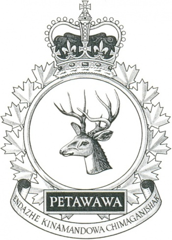 Coat of arms (crest) of the Canadian Forces Base Petawawa, Canada