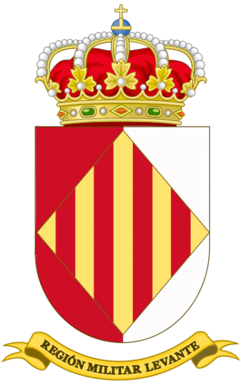 Coat of arms (crest) of the Levante Military Region, Spanish Army
