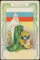 Arms, Flags and Folk Costume trade card Russland