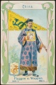 Arms, Flags and Folk Costume trade card Natrogat China