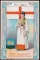 Arms, Flags and Folk Costume trade card Montenegro